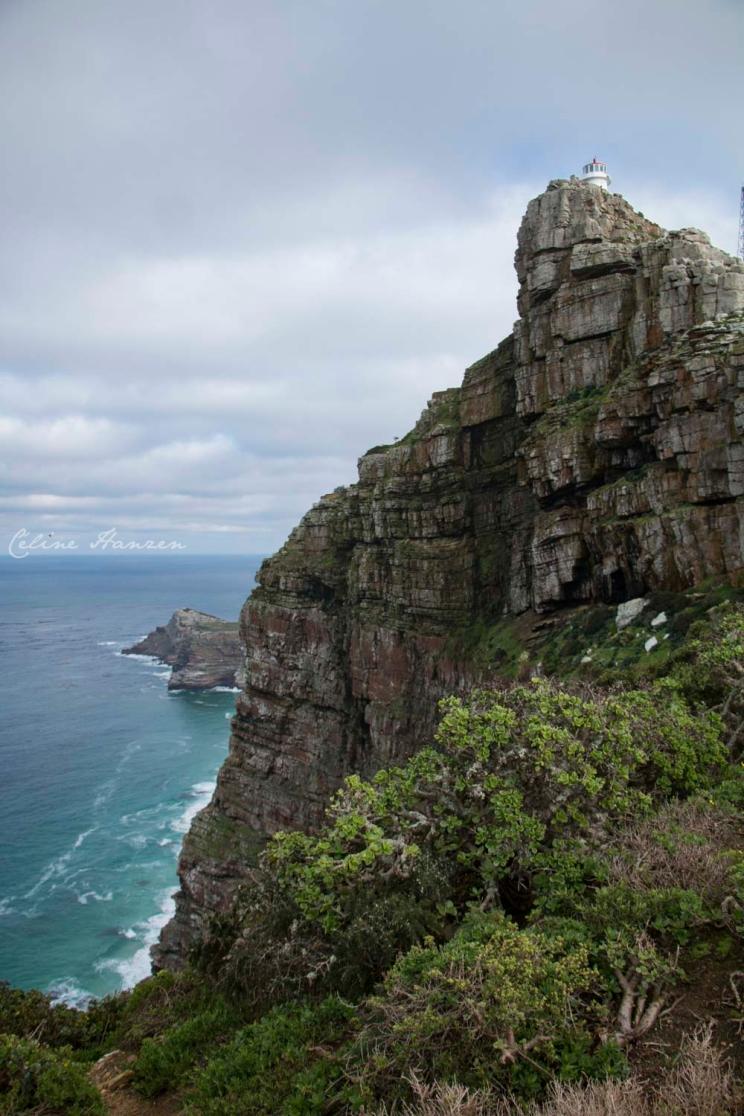En Route pour Cape Point, vue sur le Cap de Bonne Esperance dans le fond